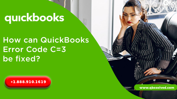 How can QuickBooks Error Code C=3 be fixed?