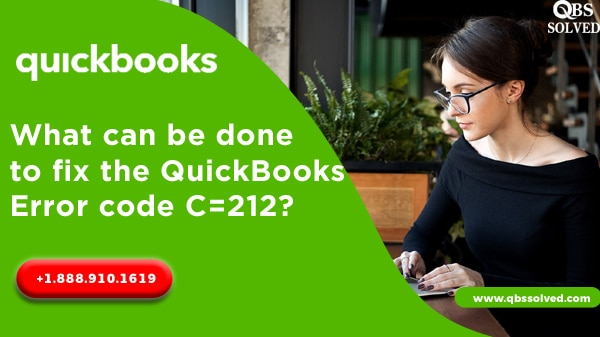 What can be done to fix the QuickBooks Error code C=212?