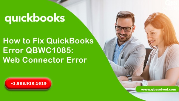 QuickBooks Web Connector QBWC1085: How to Fix